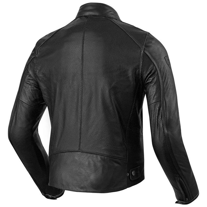 rev it flatbush air vintage jacket black motostorm