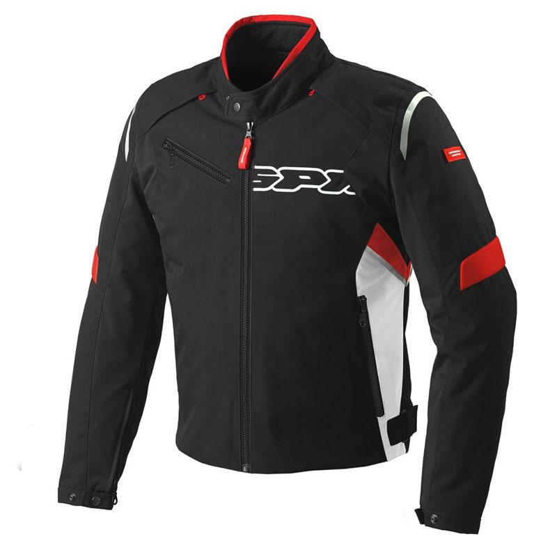 Spidi Flash Tex Jacket Black White Red