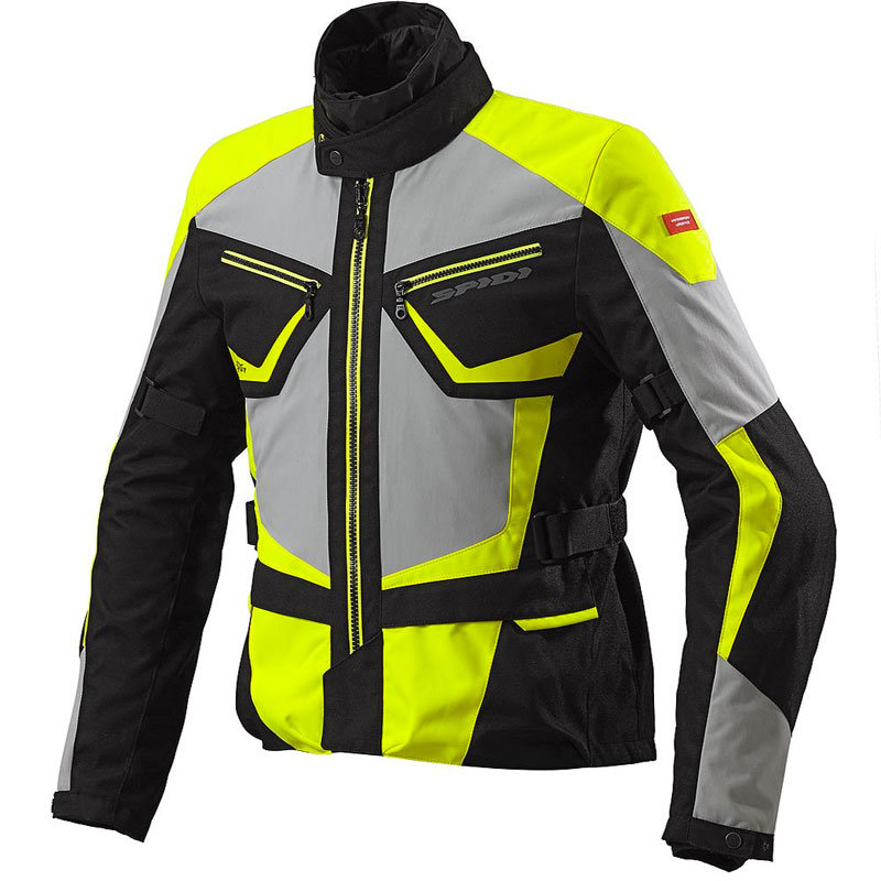 Spidi Multiwinter H2out Jacket Black Grey Yellow