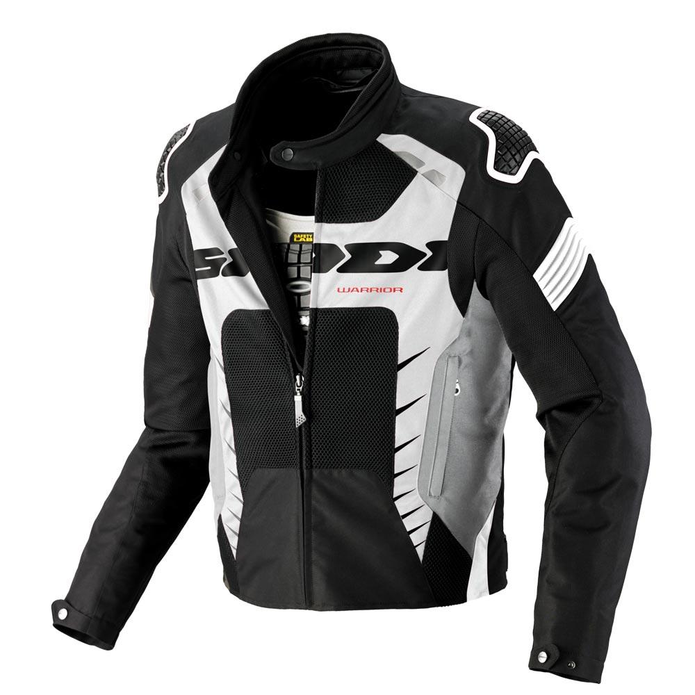 Spidi Warrior Net 2 Jacke schwarz weiß