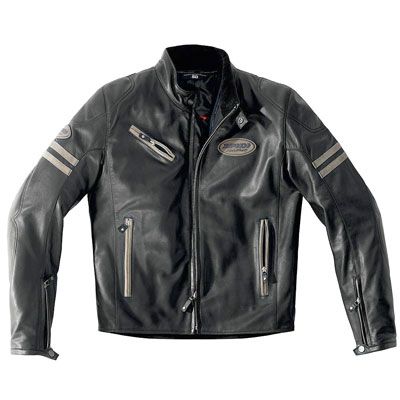 Spidi Ace Leather Jacket Black Sand