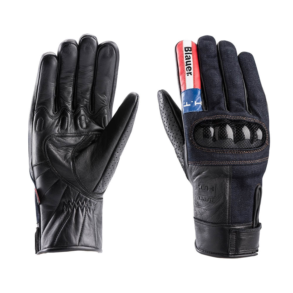 Blauer Combo Carbon Denim Gloves Usa
