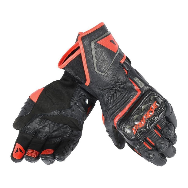 Dainese Carbon D1 Long Gloves Red
