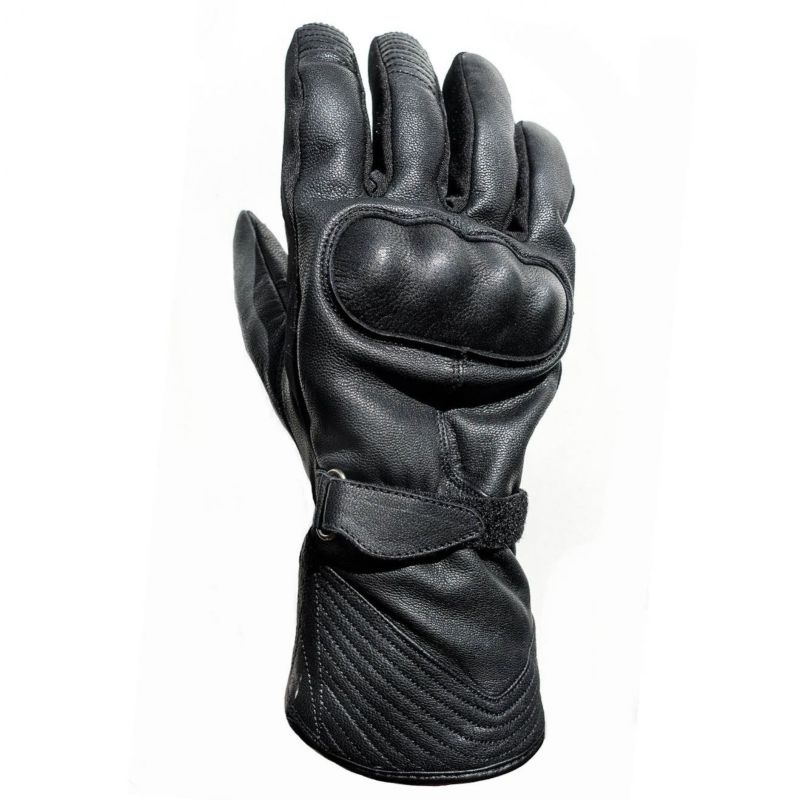 Helstons Ecko Leather Gloves Black