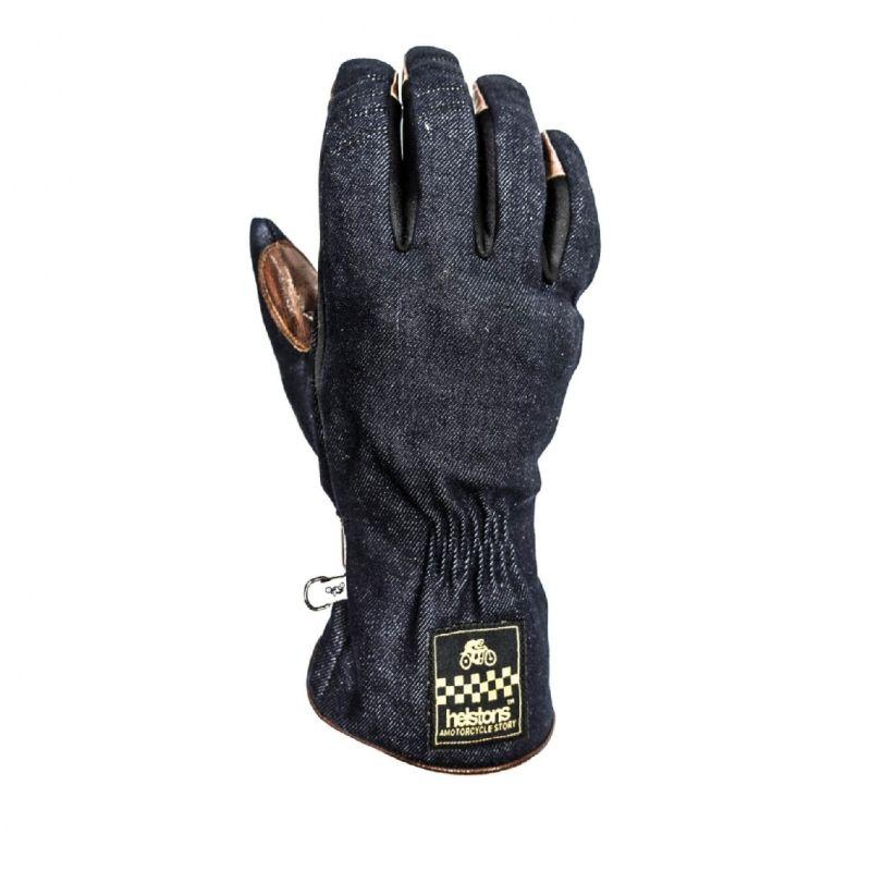 Helstons One Denim Handschuhe blau gold