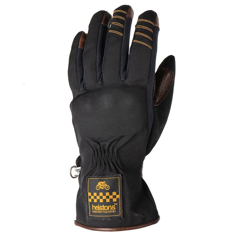 Helstons One Ladies Gloves Black Camel