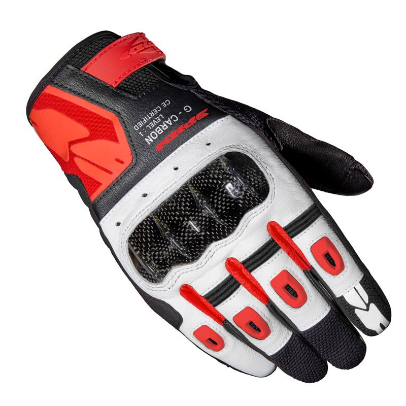 Guanti Moto Spidi G-carbon Rosso