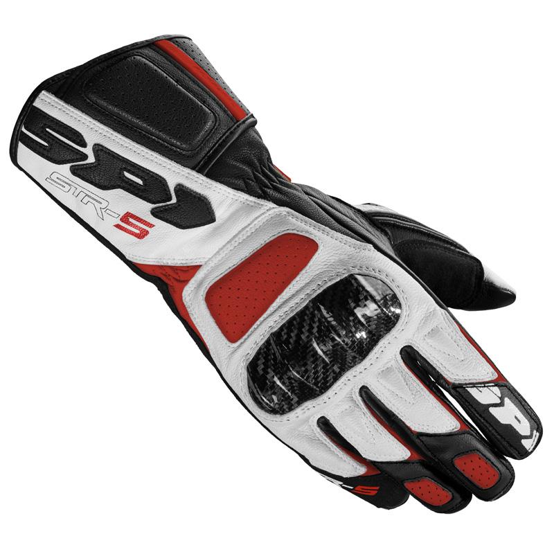 Guanti Moto Spidi Str-5 Bianco Rosso