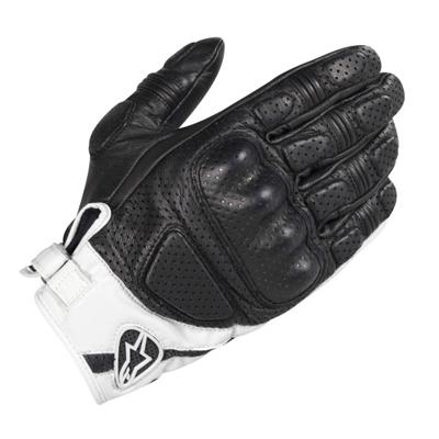 Alpinestars Mustang Handschuh schwarz-weiß