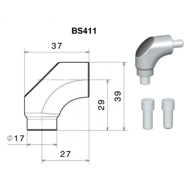 Rizoma Adapter Bs411a Aluminium