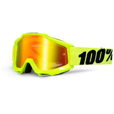Image of 100% Accuri Fluo Yellow mirror red lens c49cd4293d1238ff33b6538cc1b466180a1a3eff