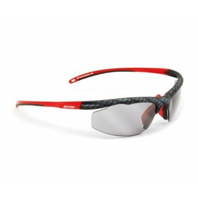 Bertoni Occhiale Moto Lenti Fotocromatiche Rosso