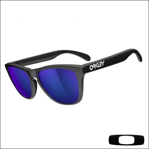Oakley Frogskins Matte Black - Violet Iridium Lens