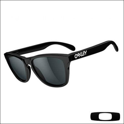 Oakley Frogskins Polished Black - Lens Grey