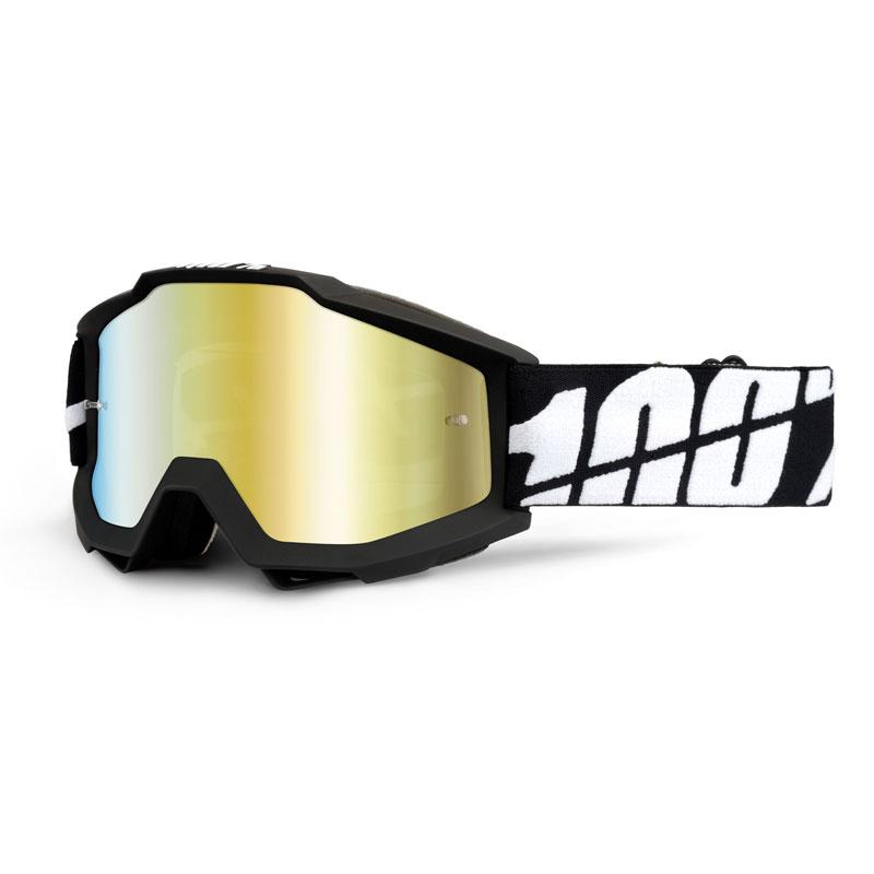 100% Accuri Black Tornado Mirror Gold Lens