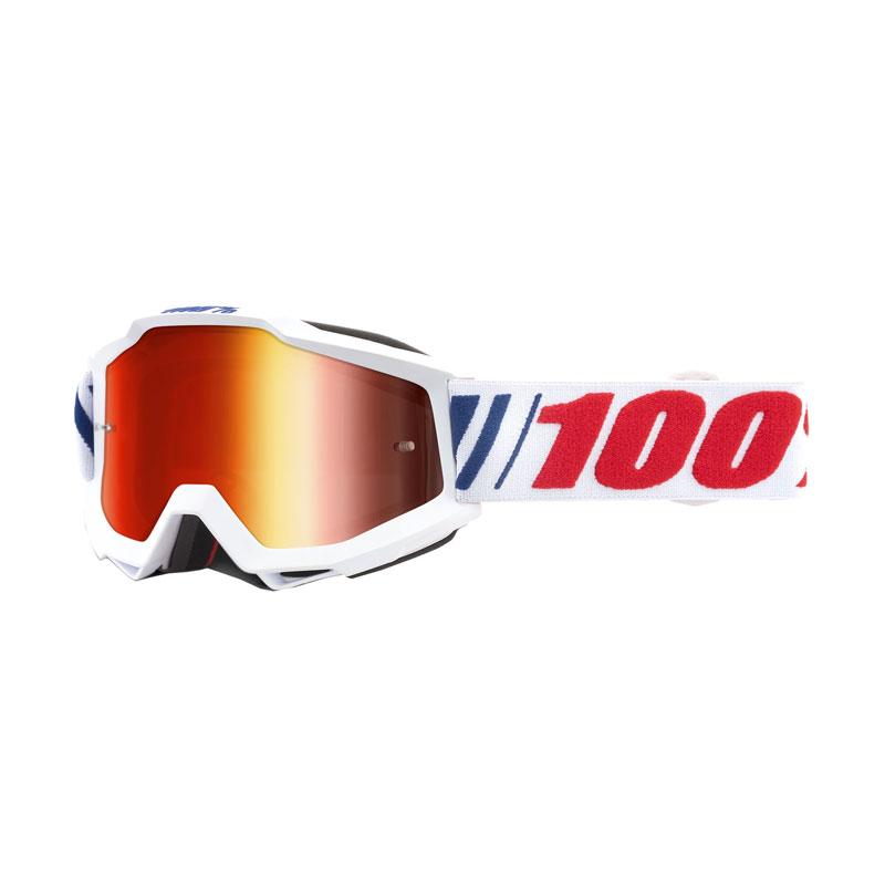 Maschera Cross 100% Accuri Af066 Lente Specchiata Rossa