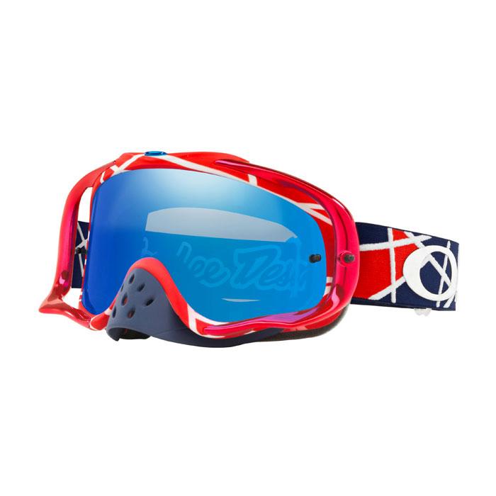 Oakley Crowbar Mx TLD Metric Rot Weiß Spiegel Blau Objektiv
