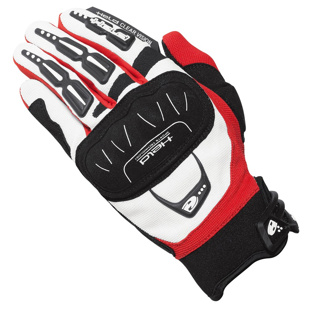 Held Offroad Backflip Gloves White Red