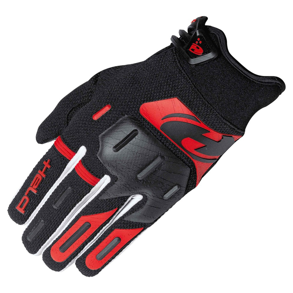 Held Offroad Hardtack Handschuhe schwarz rot