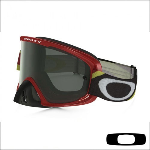 Oakley O2 Mx Heritage Racer Red Dark Grey