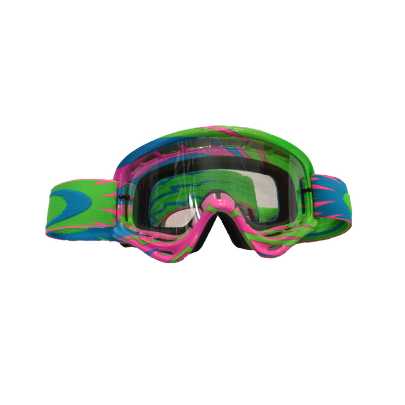 Oakley Xs O Frame High Voltage Pink/blue - Lente Clear
