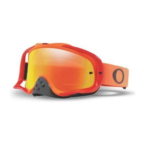 Oakley Crowbar Rot-orange-Linse Feuer Iridium & Clear