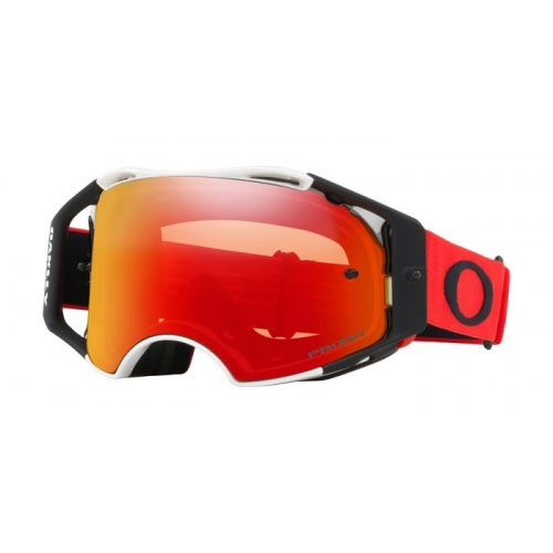 Oakley Airbrake Mx Prizm Red White Lens Torch Oo7046