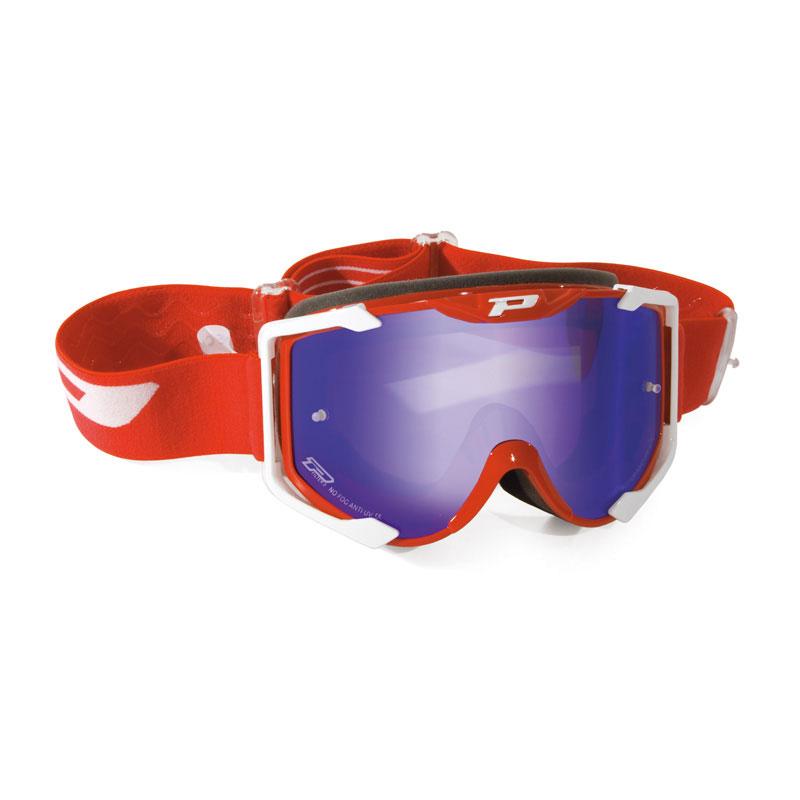 Progrip 3400 Menace Occhiale Croos Enduro Rosso Blu