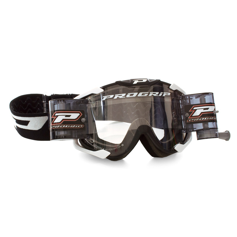 Progrip 3408 Mx Schutzbrille Roll Extra Large schwarz
