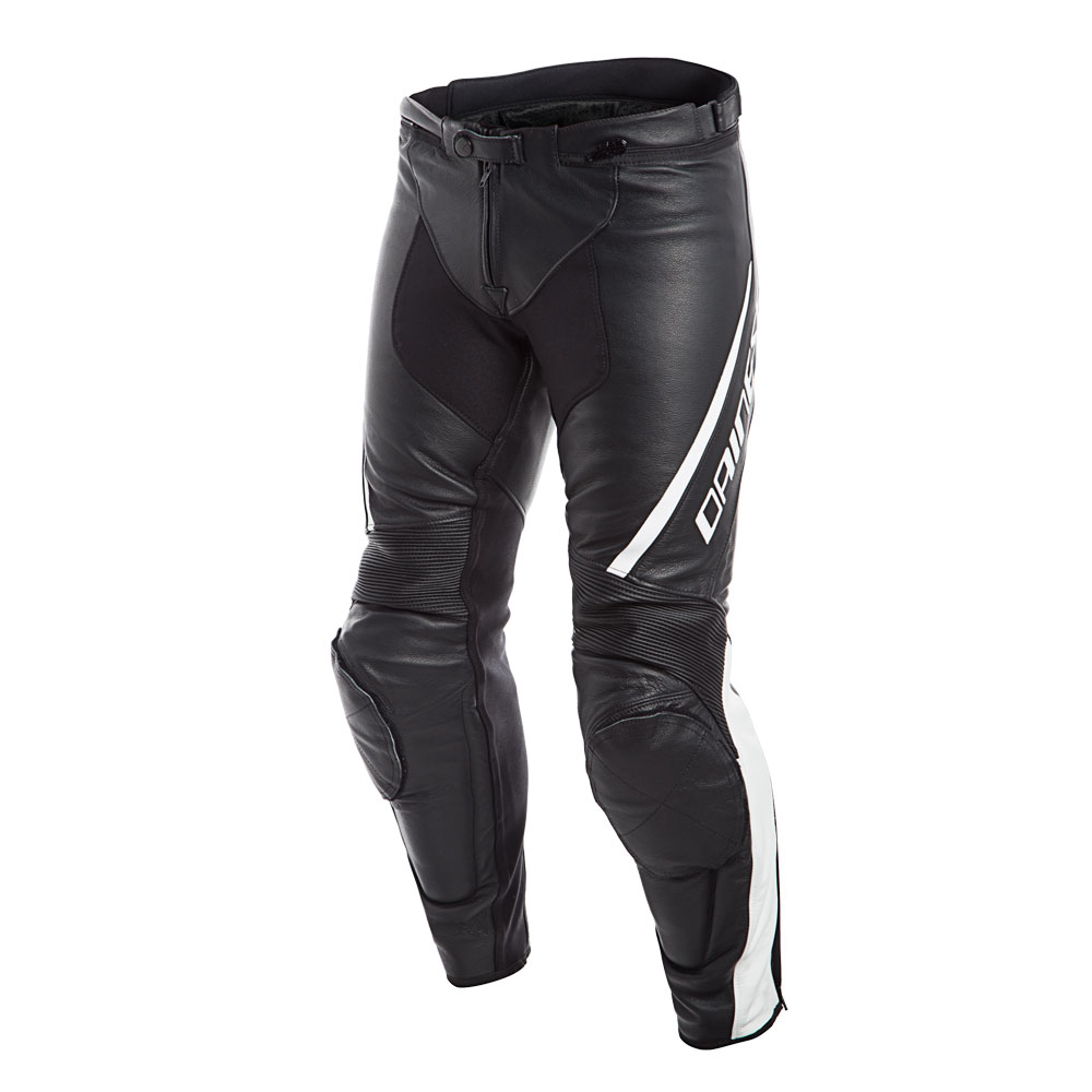 Dainese Assen Perforated Leather Pants Bianco Nero