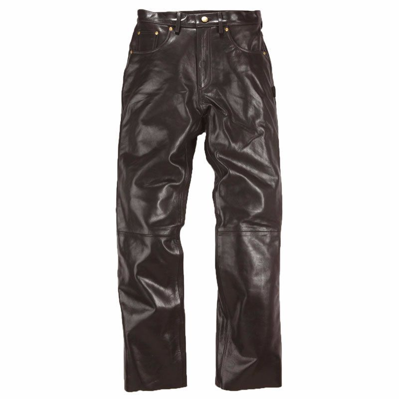 Pantaloni In Pelle Helstons Corden Rag Marrone