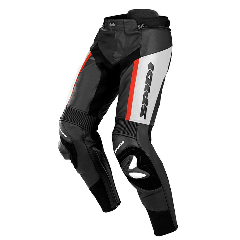Spidi Rr Pro Leather Pants White Red