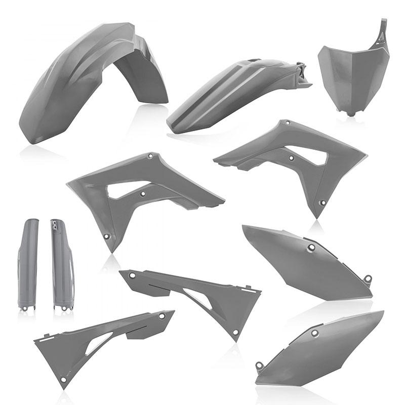 BLACK Fits ACERBIS PLASTIC KIT Honda CRF450R,CRF250R