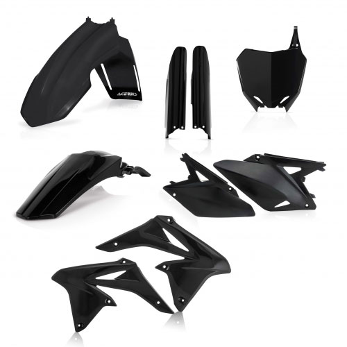Acerbis Plastic Kit Black 0013984 For Susuki Rm-z 250 2010-2017