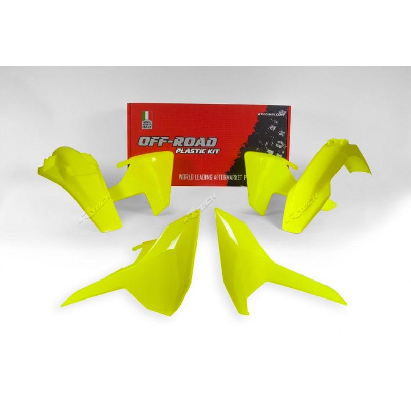 Racetech Kit Plastiche Replica Husqvarna 2018 4pz Giallo Fluo