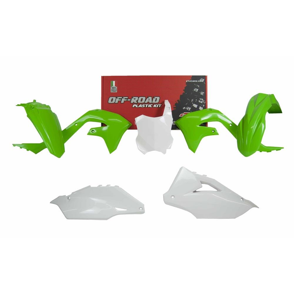 Racetech Replica Plastics Kit Kawasaki Kxf White