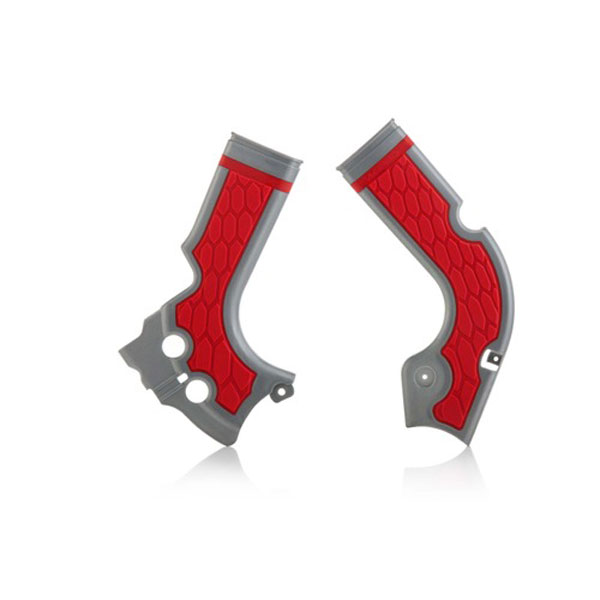 ACERBIS X-GRIP Frame Protector HONDA CRF 250 14/16 CRF 450 13/16 Silver/Red