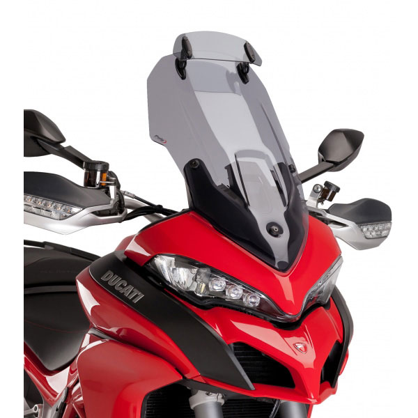Puig Touring Windscreen With Additional Visor Ducati Multistrada 1200 '15 Light Tint