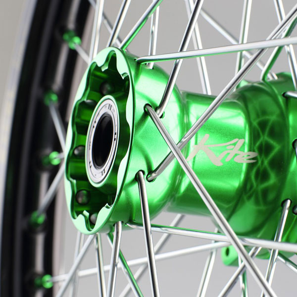 Kite Complete Rear Weel Elite 1.85x19red/green-kawasaki Kxf250 03/16 Kx 03/08