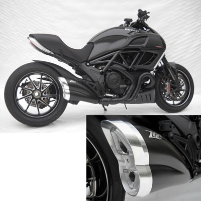 Zard Silencer Approved Stainless Steel Cat., Black Diavel