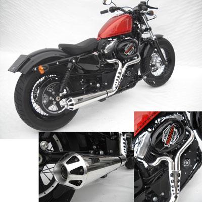 Zard Kit Completo 2>1 Inox Omologato Cat., Lucidato A Specchio Harley Davidson Sportster
