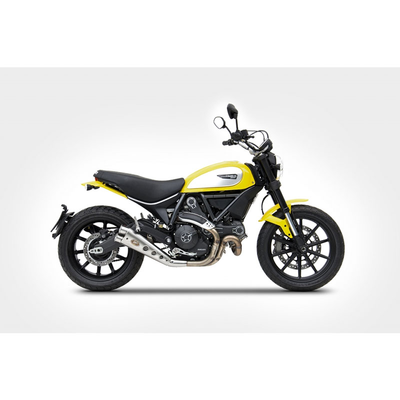 Zard Ducati Scrambler Exhaust Low Db Killer Ce Approved