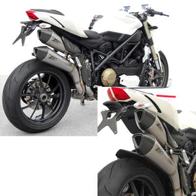 Zard Complete Exhaust System 2>1>2 Approved Stainless Titanium Catalyzed Streetfighter