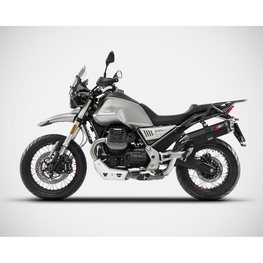 Zard Slip On Moto Guzzi V85 Tt E4 Stainless Steel B