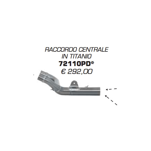 Arrow Central Fitting Titanium Honda Crf 250 R 14/16