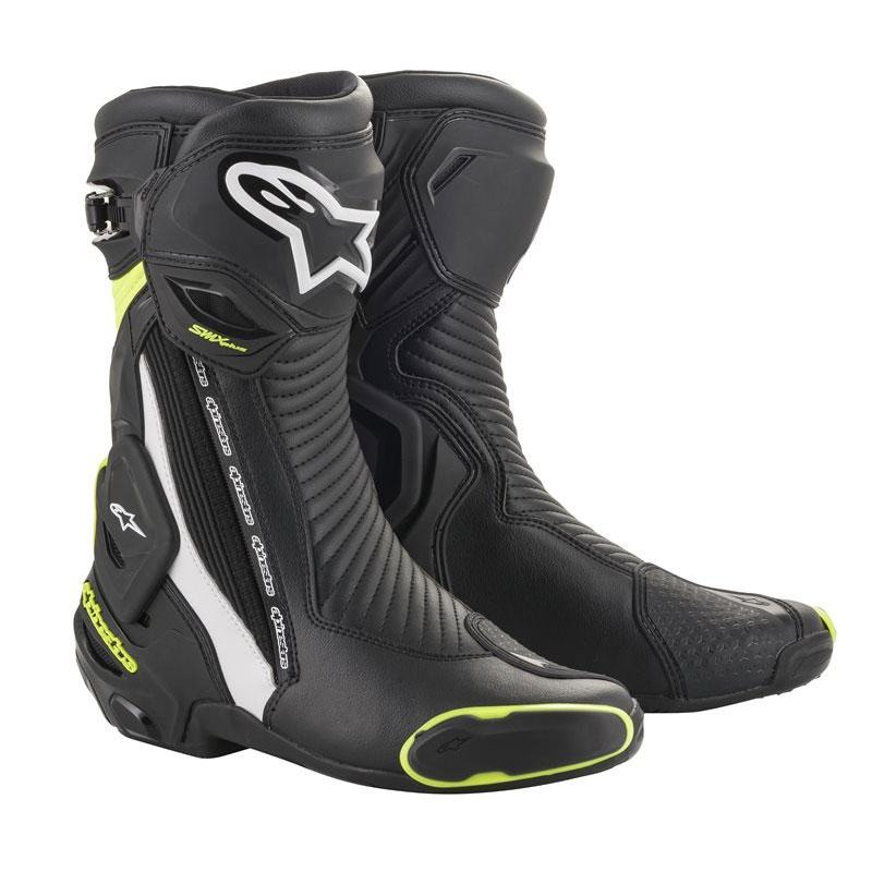 Alpinestars Smx Plus V2 Stiefel schwarz weiß gelb