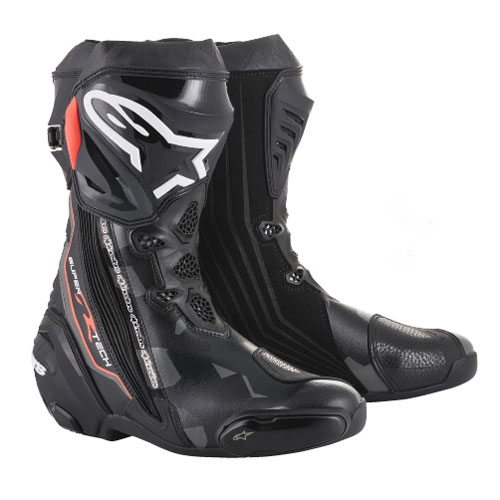 alpinestars supertech r boot 2018 black grey red motostorm. Black Bedroom Furniture Sets. Home Design Ideas