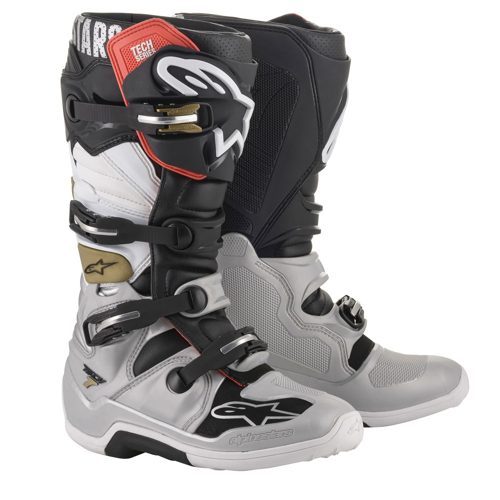 Alpinestars Tech 7 2020 Boots Black Silver Gold