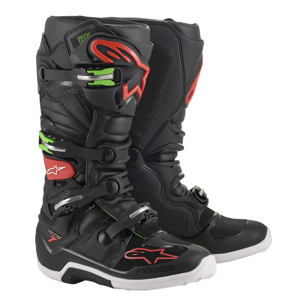 Stivali Moto Cross Alpinestars Tech 7 2020 Nero Rosso Verde