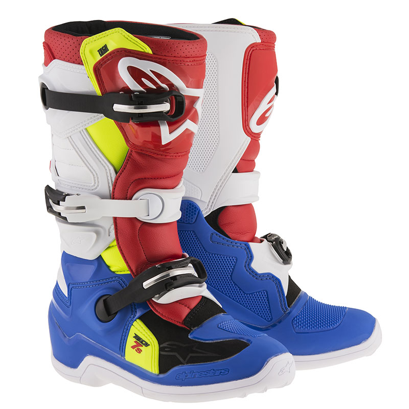 alpinestars tech 7s boot youth red blue white a20150177025 boots motostorm. Black Bedroom Furniture Sets. Home Design Ideas